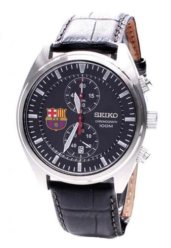 SEIKO black Seiko Chronograph Jam Tangan Pria - Hitam - Strap Kulit  -SNN269P1 SE382AC62RLXID 1 595fe4e2ae