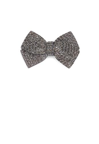 Glamorousky black Fashion Bright Ribbon Black Cubic Zirconia Small Hair Slide 6B597ACA9F744CGS_1