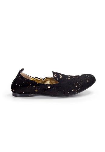 Shu Talk 黑色 XSA 柔軟麂皮型格平底鞋 0AB6CSH315B640GS_1