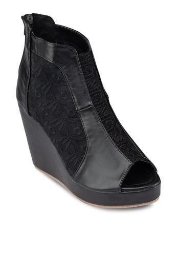 蕾esprit手錶專櫃絲露趾厚底楔形鞋, 女鞋, 鞋