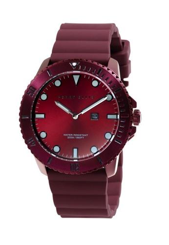 PERRY ELLIS red Perry Ellis Deep Diver Unisex 42mm Quartz Watch 06004-03 4DDF1AC53303ABGS_1