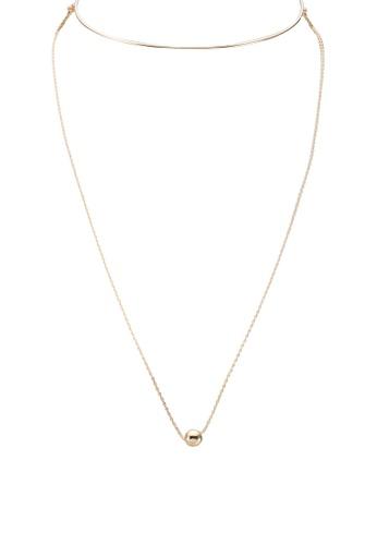 Wanderlust + Co gold Leah Gold Choker Necklace WA282AC57TNQMY_1