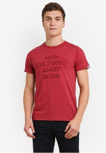 High Cultured red Round Neck Tee HI002AA0S1UIMY_1