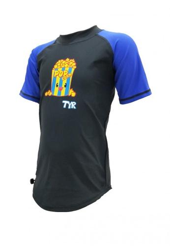 TYR blue TYR Popcorn Short Sleeve Guard E619CKA0F9B1A5GS_1