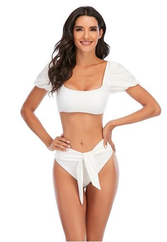 LYCKA white LKL7059a-European Style Lady Two-Piece Swimsuit-White 13D2FUS81DCB95GS_1