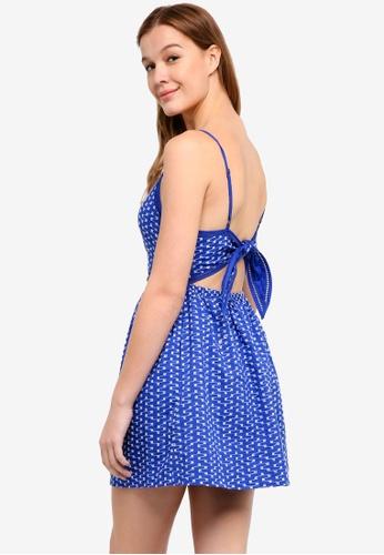 Superdry blue Jessie V-Neck Cami Dress 36E3FAA7E5A635GS_1