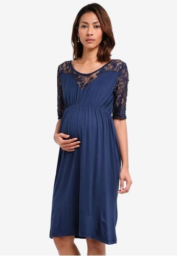Mama.licious black Maternity Linna Mini Dress 6F279AA01FF23AGS_1