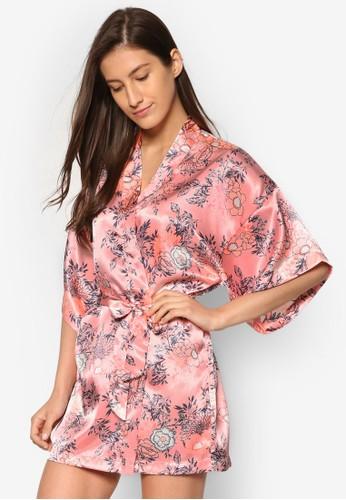 印花開襟睡袍、 服飾、 服飾CottonOnBody印花開襟睡袍最新折價