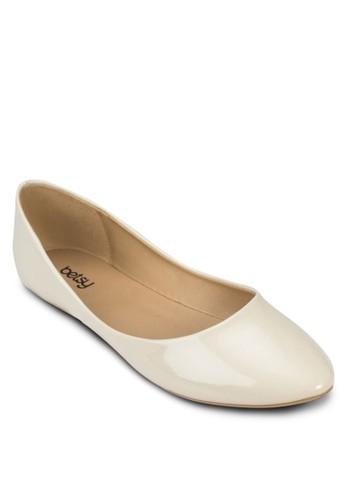 漆皮尖頭平底鞋, esprit官網女鞋, 鞋