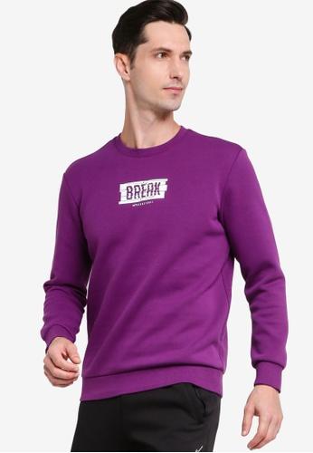 361° purple Basketball Series Turtleneck Sweater 6FCEEAAEE042EFGS_1