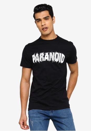 KOTON black Paranoid T-Shirt 56EC6AA7365211GS_1