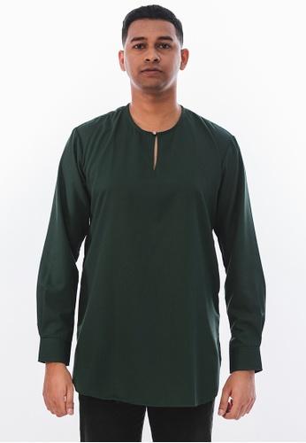 Achaboy green Achaboy Kurta - Sheikh - Emerald Green 0813CAA623871FGS_1