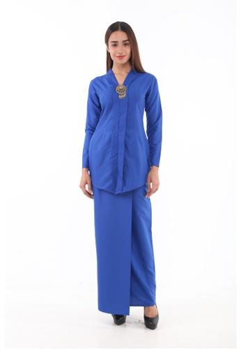 Amar Amran blue and navy Baju Kebaya Rokiah 2F896AA1168F5DGS_1