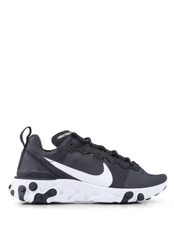 Nike black React Element 55 Shoes 00205SHA26F2ADGS_1