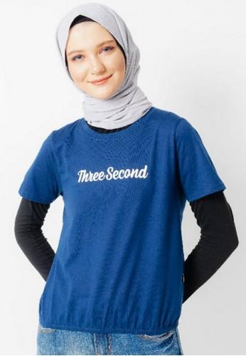 3SECOND blue Women Tshirt 371220 53D79AAA6D4669GS_1