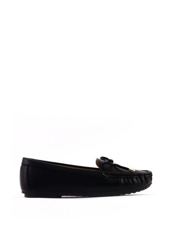 7soles black Lena  Flat Shoes 0E0CBSH2159BBFGS_1