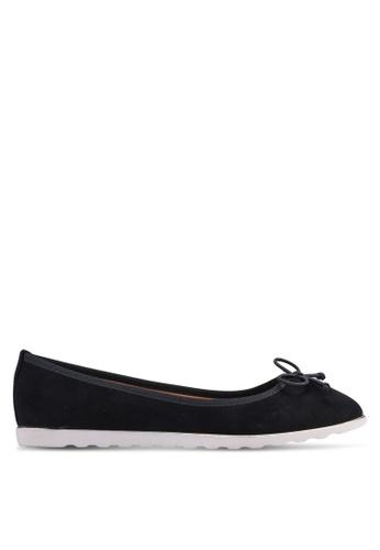 Carlton London 黑色 蝴蝶結平底鞋 A4F4DSHFAAED2EGS_1