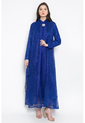 Kasa Heritage blue Artura Dress - Blue A8BA6AA01CCC18GS_1