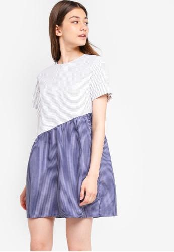 Something Borrowed multi Asymmetric Babydoll Dress 7307EAADC0A773GS_1