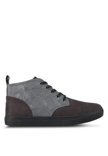 JAXON black Tonal Mixed Materials Chukka Boots A9F1DSH7F63FBCGS_1