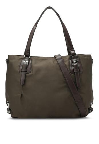 buy nuveau pu trimmed nylon convertible shoulder bag online on
