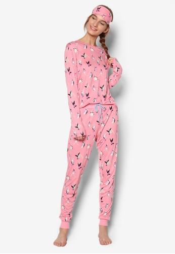 聖誕主題印花睡衣zalora時尚購物網評價組合, 服飾, 服飾
