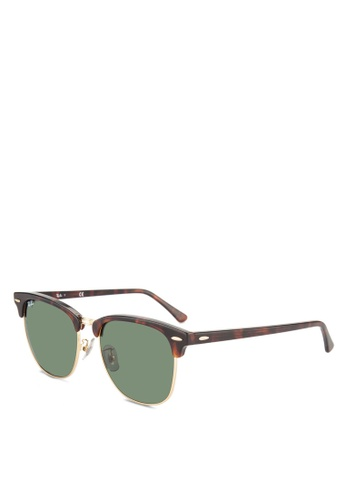 86546dce659e Ray-Ban brown Clubmaster RB3016 Sunglasses RA896GL63GSQMY 1
