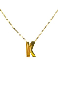 K Stainless Letter Necklace