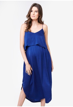 c2e7b0b72d Ripe Maternity blue Maternity Nursing Slip Dress E0FD7AA43A57F0GS 1