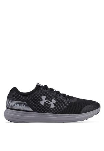 Under Armour black UA Surge Running Shoes 5EF64SH5E7D7F0GS_1