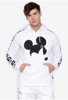 8d73e890e734 Kappa white Street Hooded Jumper Brushed Fleece Disney D4F40AAD3BB6C3GS 1