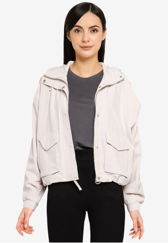 Abercrombie & Fitch white Hooded Jacket DC0CAAAFD097B8GS_1