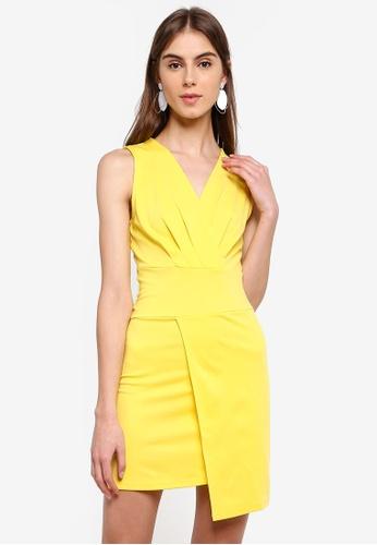 ZALORA 黃色 無袖洋裝 445C3AADF857E4GS_1