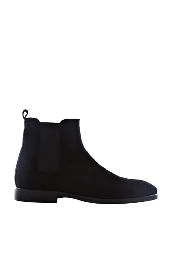 Zeve Shoes black Zeve Shoes Chelsea Boots - Black Suede Leather 31C36SH2E31334GS_1