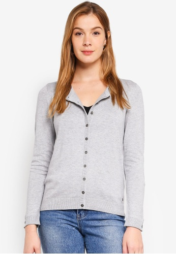 ESPRIT grey Round Neck Cardigan 36891AAC2DF9B8GS_1