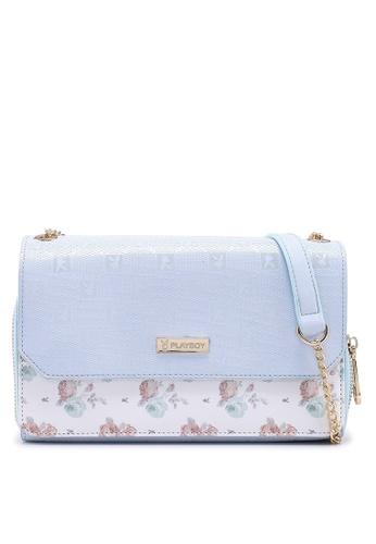 PLAYBOY BUNNY blue Ladies Sling bag & Wallet 2 In 1 Set A4001AC527488FGS_1