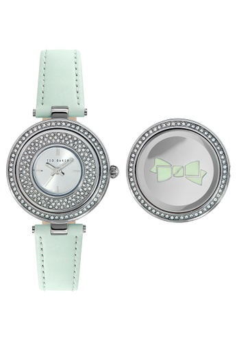 TED BAKER green and silver Ted Baker Women's 10023503 Classic Analog Watch 6DEB8ACCD5EFAEGS_1
