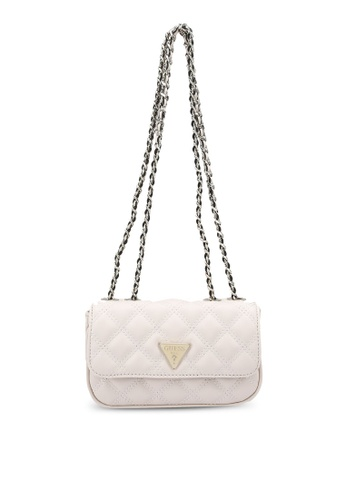 GUESS white Cessily Micro Mini Sling Bag 09D54AC857506AGS_1