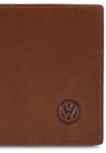 Volkswagen brown Volkswagen Genuine Leather Bi-Fold Wallet VO089AC0SMAWMY_1