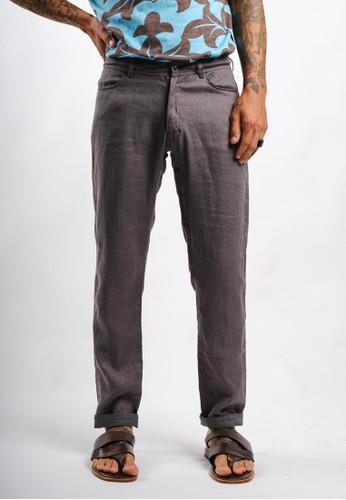 Gingersnap Bali black Linen Slim Cut Men Burbery Pant 2B925AAD7F7160GS_1
