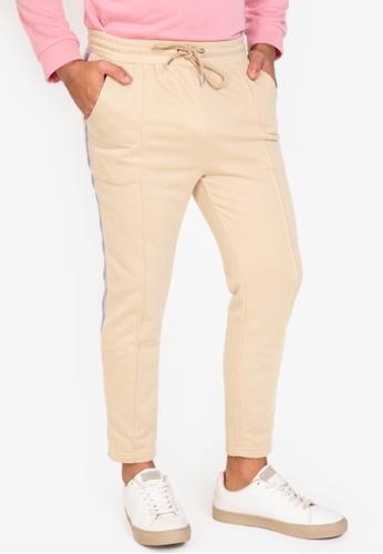 ZALORA BASICS beige Side Trim Tailored Jogger Pants 3C0E6AAB5A12E1GS_1