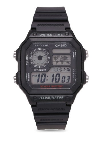 Casio black Casio Watch AE-1200WH-1AVDF 84E24AC51B4CE3GS_1