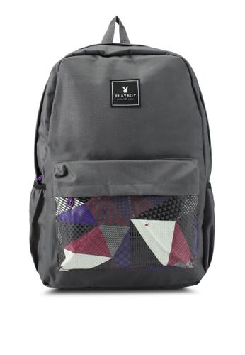 Playboy grey Playboy Casual Backpack PL371AC0SJYKMY_1