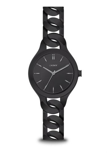 5e9be83cc0c DKNY black Chambers Black Dial Black Chain Bracelet Ladies Watch NY2219  0AC3DAC0AEEC1EGS 1