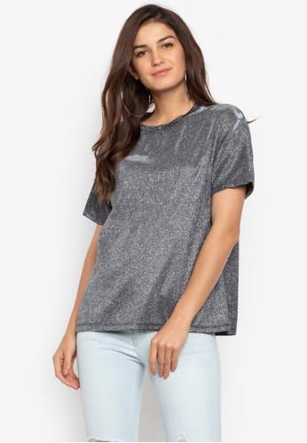 Chase Fashion grey Stripe Festival Glitter T-Shirt 29284AA320F8DAGS_1