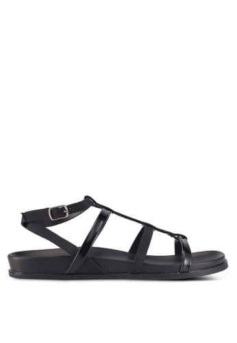 ZALORA black Strappy Sandals DB1D8SHAE6164CGS_1