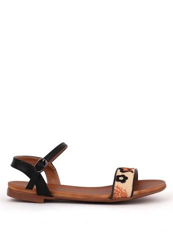 7soles black Azalea Strappy Sandals BE1B6SH1635E30GS_1