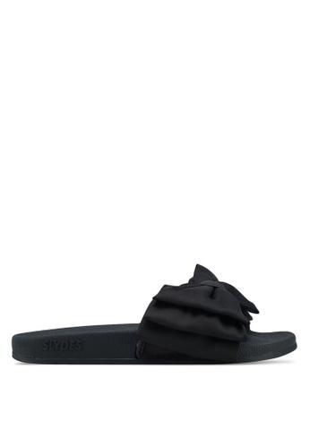Slydes black Peep Sandals 19946SH826E77CGS_1