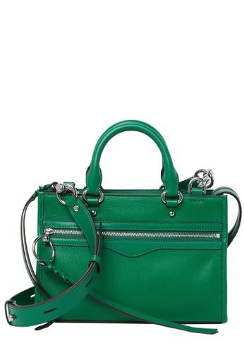 REBECCA MINKOFF green Rebecca Minkoff Micro Bedford Zip Satchel Bag in Jungle 9B5BFACD309FC8GS_1