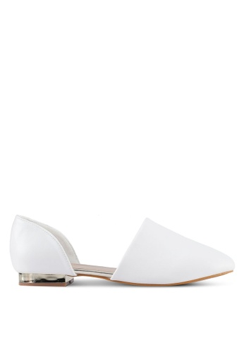 Something Borrowed white D'orsay Flats 72765SH9309A53GS_1